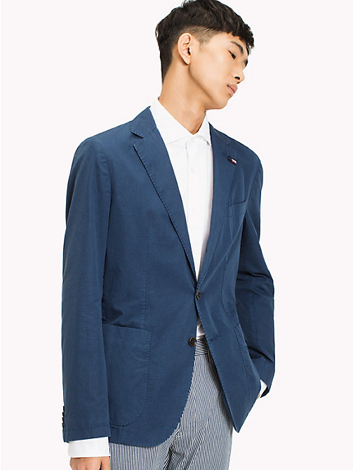 TOMMY HILFIGER Denim Slim Fit Blazer - DARK DENIM - TOMMY HILFIGER Clothing - main image