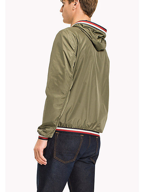 TOMMY HILFIGER Hooded Nylon Zip-Thru Jacket - FOUR LEAF CLOVER - TOMMY HILFIGER Clothing - detail image 1