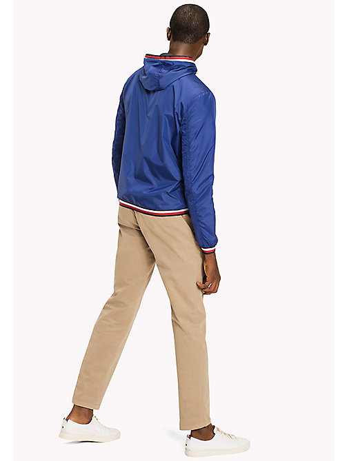 TOMMY HILFIGER Hooded Nylon Zip-Thru Jacket - SODALITE BLUE - TOMMY HILFIGER Men - detail image 1
