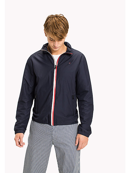 TOMMY HILFIGER Lightweight Zip Up Windbreaker - NAVY BLAZER - TOMMY HILFIGER Clothing - main image