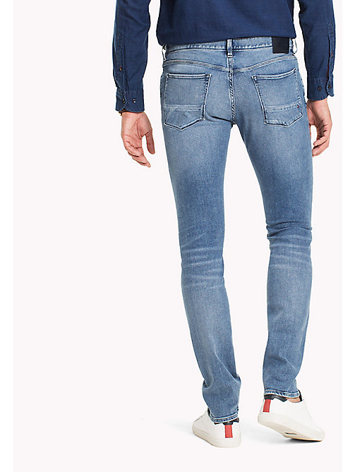 TOMMY HILFIGER Stonewash Super Slim Fit Jeans - NEGATES BLUE - TOMMY HILFIGER Clothing - detail image 1