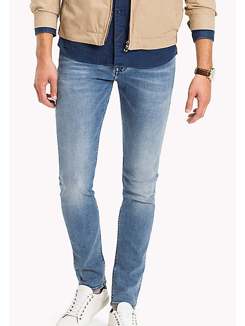 TOMMY HILFIGER Stonewash Super Slim Fit Jeans - NEGATES BLUE - TOMMY HILFIGER Men - main image