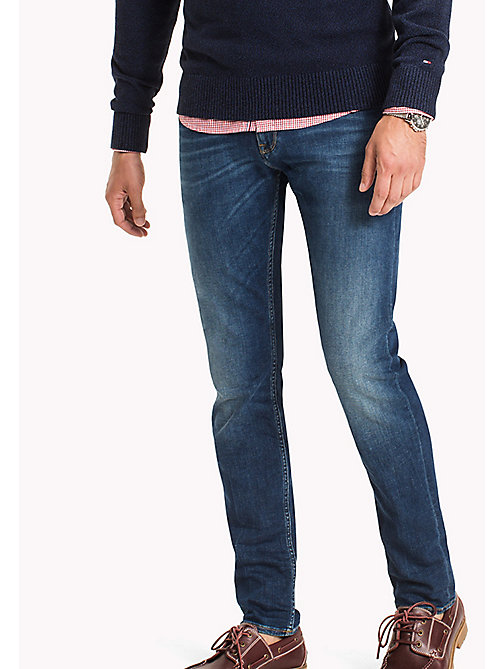 TOMMY HILFIGER Faded Slim Fit Jeans - KEARNY INDIGO - TOMMY HILFIGER Clothing - main image