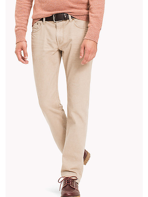 TOMMY HILFIGER Denton Straight Fit Jeans - TEMPE BEIGE - TOMMY HILFIGER Straight-Fit Jeans - main image