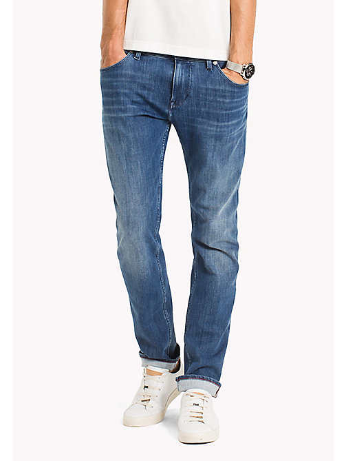TOMMY HILFIGER Denton Faded Straight Fit Jeans - BUCKEYE BLUE - TOMMY HILFIGER Straight-Fit Jeans - main image