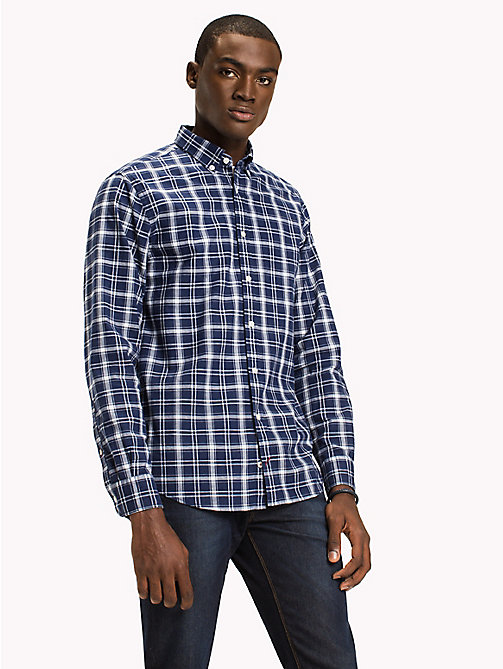 TOMMY HILFIGER Check Regular Fit Shirt - MARITIME BLUE / SNOW WHITE - TOMMY HILFIGER Clothing - detail image 1