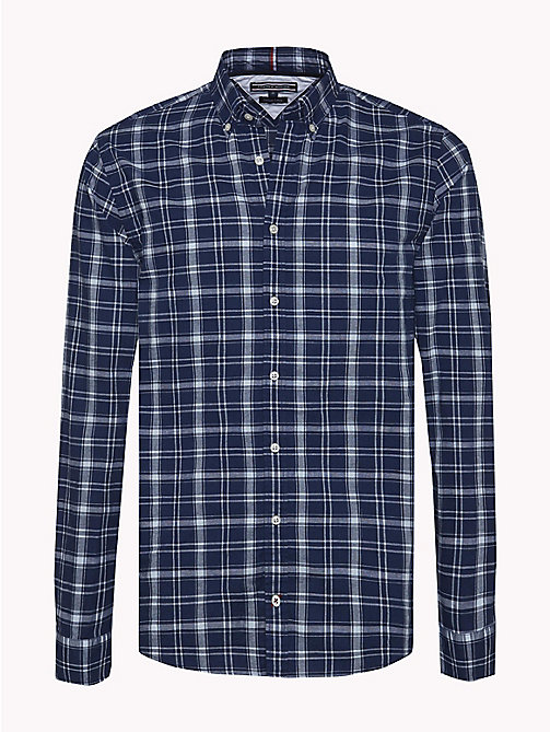 TOMMY HILFIGER Check Regular Fit Shirt - MARITIME BLUE / SNOW WHITE - TOMMY HILFIGER Clothing - main image