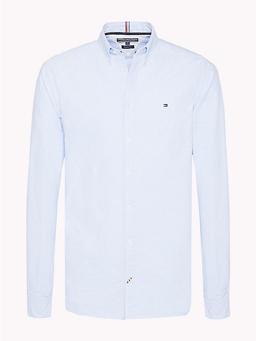 Diamond Slim Fit Shirt - SHIRT BLUE / BRIGHT WHITE -  Clothing - main image