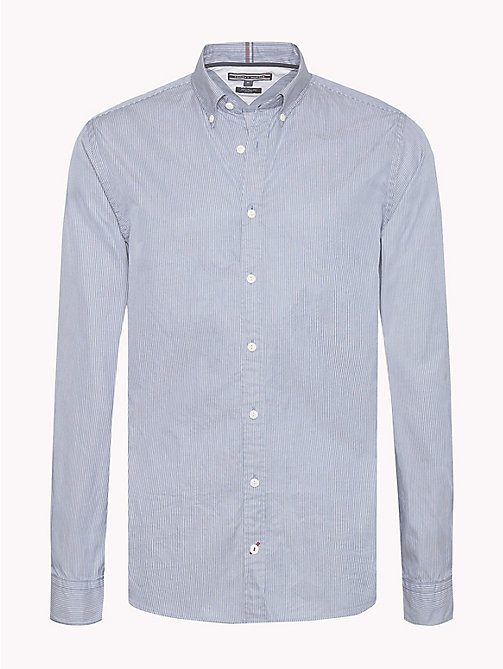 TOMMY HILFIGER Stripe Regular Fit Shirt - LIGHT INDIGO / SNOW WHITE - TOMMY HILFIGER Shirts - main image