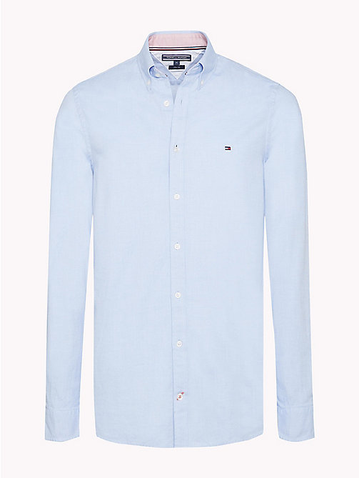 TOMMY HILFIGER Luxe Dobby overhemd - SHIRT BLUE - TOMMY HILFIGER Casual overhemden - main image