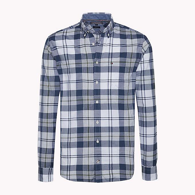 Kariertes Regular Fit Shirt aus Oxford Baumwolle