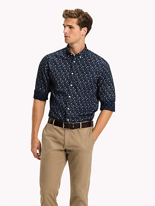 TOMMY HILFIGER Floral Slim Fit Shirt - INDIGO / BRIGHT WHITE - TOMMY HILFIGER Casual Shirts - detail image 1