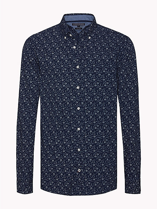 TOMMY HILFIGER Floral Slim Fit Shirt - INDIGO / BRIGHT WHITE - TOMMY HILFIGER Casual Shirts - main image