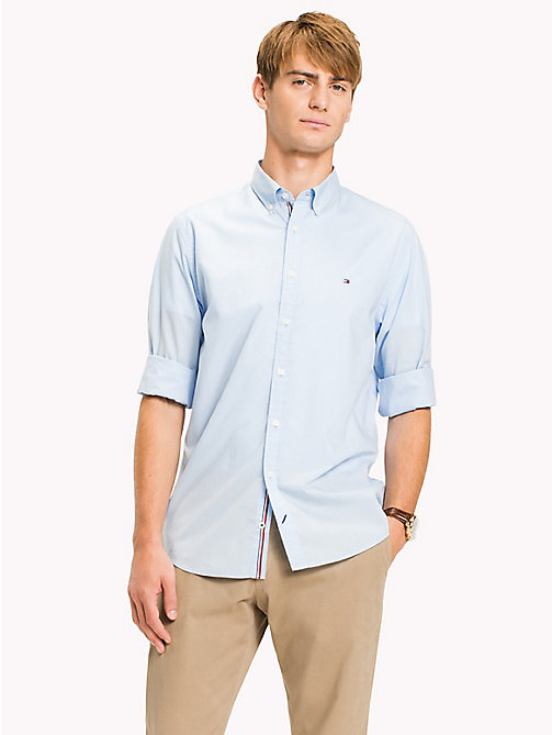 TOMMY HILFIGER Lightweight Woven Cotton Shirt - SOFT BLUE -  Vacation Style - detail image 1