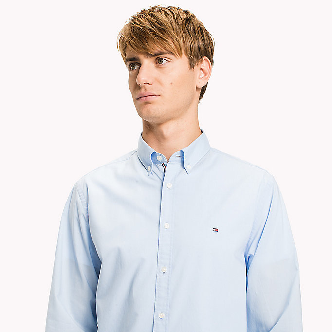 TOMMY HILFIGER Lightweight Woven Cotton Shirt - BRIGHT WHITE - TOMMY HILFIGER Men - detail image 3