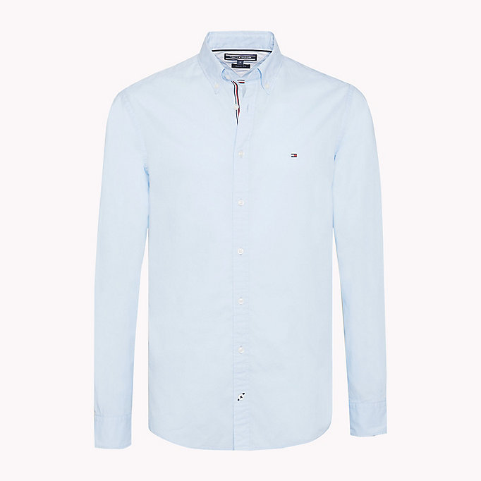 TOMMY HILFIGER Lightweight Woven Cotton Shirt - BRIGHT WHITE - TOMMY HILFIGER Men - main image