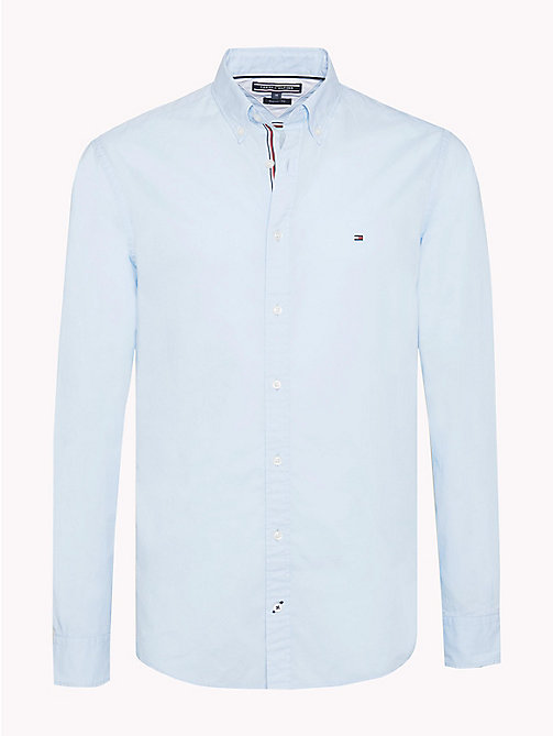TOMMY HILFIGER Lightweight Woven Cotton Shirt - SOFT BLUE -  Vacation Style - main image