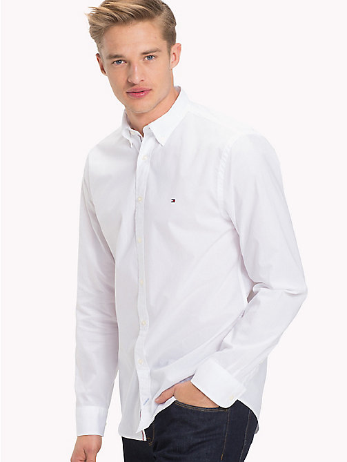TOMMY HILFIGER Lightweight Woven Cotton Shirt - BRIGHT WHITE - TOMMY HILFIGER Casual Shirts - detail image 1