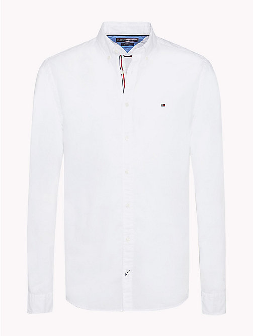 TOMMY HILFIGER Lightweight Woven Cotton Shirt - BRIGHT WHITE - TOMMY HILFIGER Casual Shirts - main image