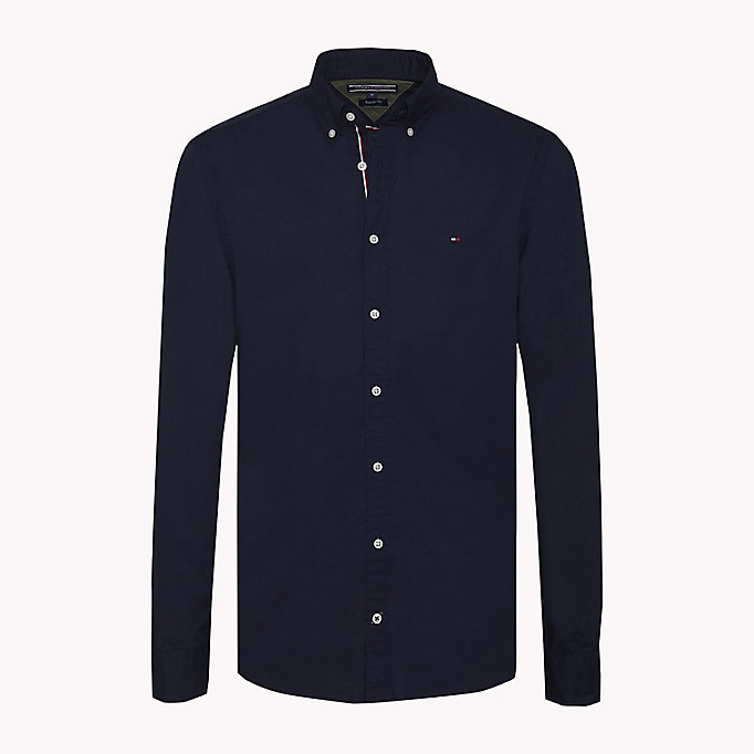 TOMMY HILFIGER Lightweight Woven Cotton Shirt - SOFT BLUE - TOMMY HILFIGER Men - main image