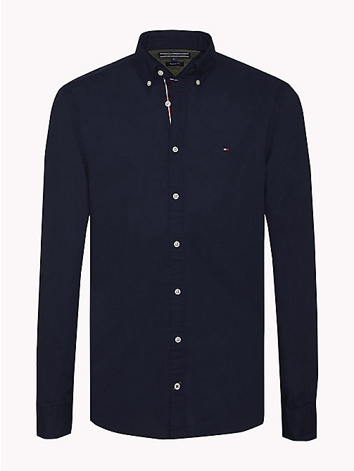 TOMMY HILFIGER Lightweight Woven Cotton Shirt - NAVY BLAZER - TOMMY HILFIGER Casual Shirts - main image