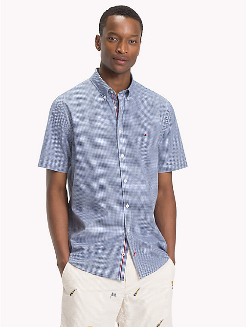 TOMMY HILFIGER Classic Check Regular Fit Shirt - ESTATE BLUE / BRIGHT WHITE - TOMMY HILFIGER Casual Shirts - main image