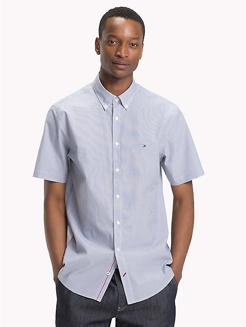 TOMMY HILFIGER Vertically Stripe Regular Fit Shirt - ESTATE BLUE / BRIGHT WHITE - TOMMY HILFIGER Casual Shirts - main image