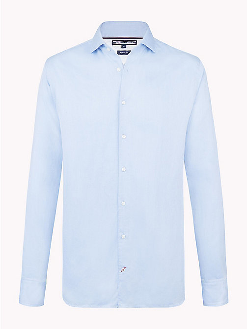 TOMMY HILFIGER Two-Tone Regular Fit Shirt - SHIRT BLUE / BRIGHT WHITE - TOMMY HILFIGER Shirts - main image