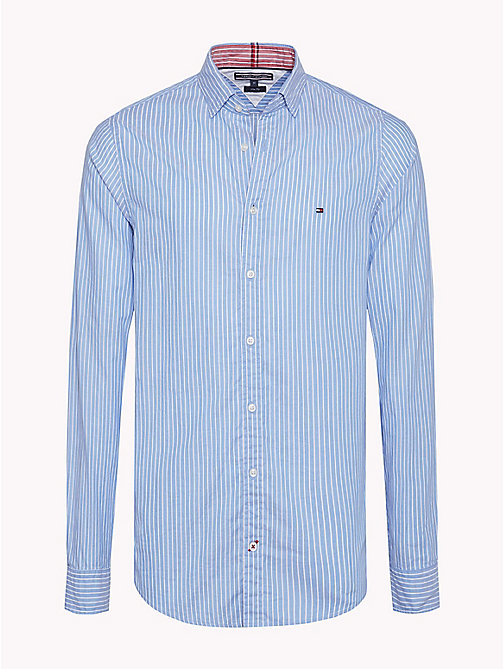 TOMMY HILFIGER Stripe Dobby Slim Fit Shirt - SHIRT BLUE / BRIGHT WHITE - TOMMY HILFIGER Casual Shirts - main image