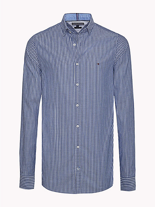 TOMMY HILFIGER Stripe Dobby Slim Fit Shirt - DUTCH NAVY / BRIGHT WHITE - TOMMY HILFIGER Casual Shirts - main image
