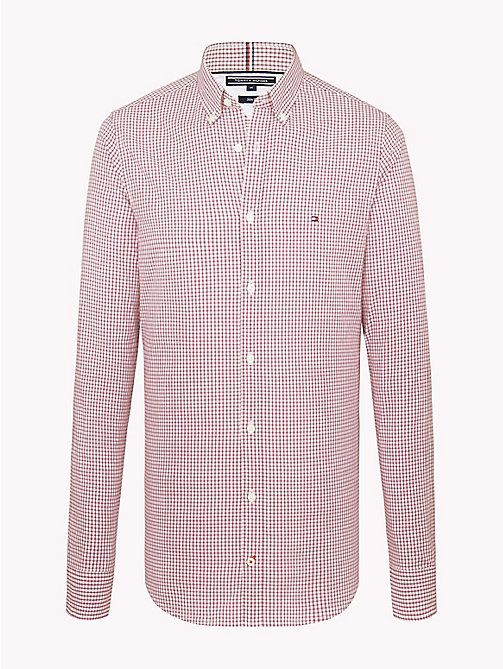 TOMMY HILFIGER Check Slim Fit Shirt - HAUTE RED / MULTI - TOMMY HILFIGER Clothing - main image