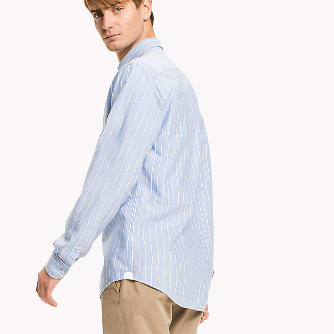 TOMMY HILFIGER Oxford Stripe Regular Fit Shirt - CORAL BLUSH / REGATTA - TOMMY HILFIGER Men - detail image 2
