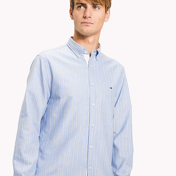 TOMMY HILFIGER Oxford Stripe Regular Fit Shirt - CORAL BLUSH / REGATTA - TOMMY HILFIGER Men - detail image 3