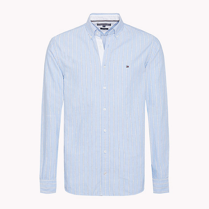 TOMMY HILFIGER Oxford Stripe Regular Fit Shirt - CORAL BLUSH / REGATTA - TOMMY HILFIGER Men - main image