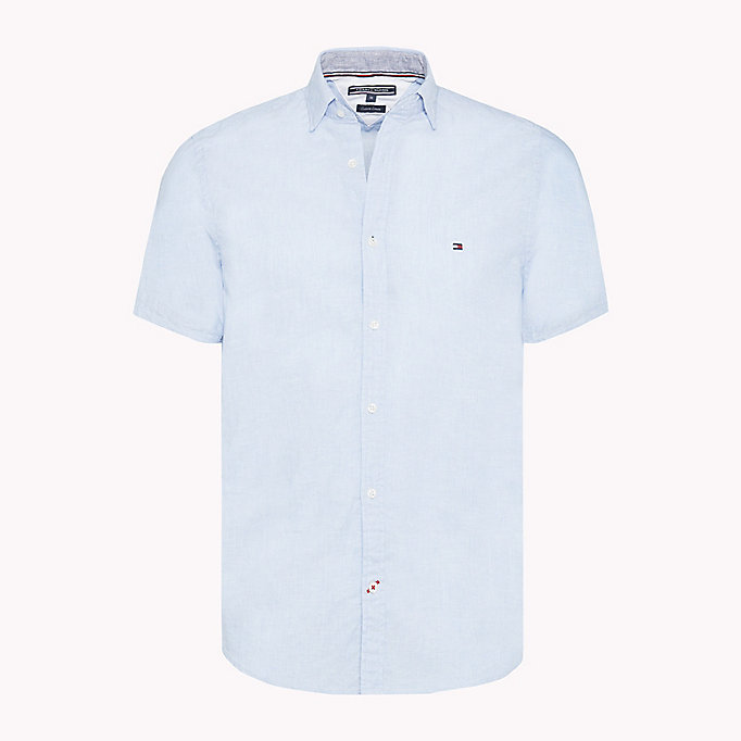TOMMY HILFIGER Stripe Slim Fit Shirt - MARITIME BLUE / BRIGHT WHITE - TOMMY HILFIGER Men - main image
