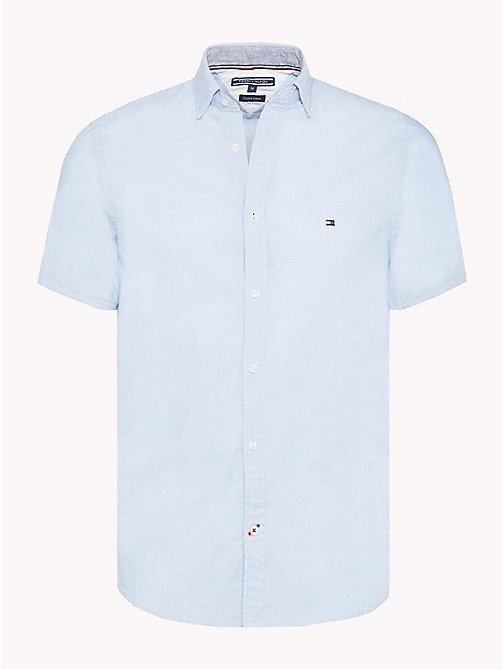 TOMMY HILFIGER Stripe Slim Fit Shirt - SHIRT BLUE / BRIGHT WHITE - TOMMY HILFIGER NEW IN - main image