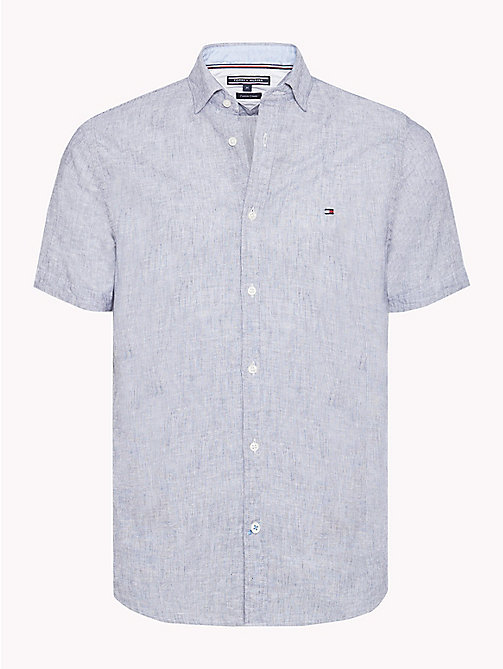 TOMMY HILFIGER Gestreept slim fit overhemd - MARITIME BLUE / BRIGHT WHITE -  NIEUW - main image