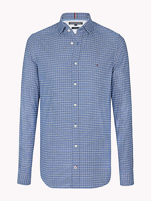 TOMMY HILFIGER Check Slim Fit Shirt - DARK DENIM / BRIGHT WHITE - TOMMY HILFIGER Casual Shirts - main image