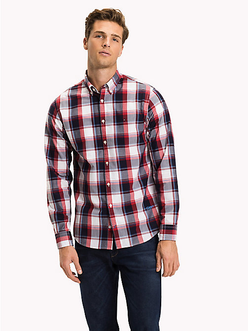 TOMMY HILFIGER Windowpane Check Regular Fit Shirt - HAUTE RED / MULTI - TOMMY HILFIGER NEW IN - detail image 1