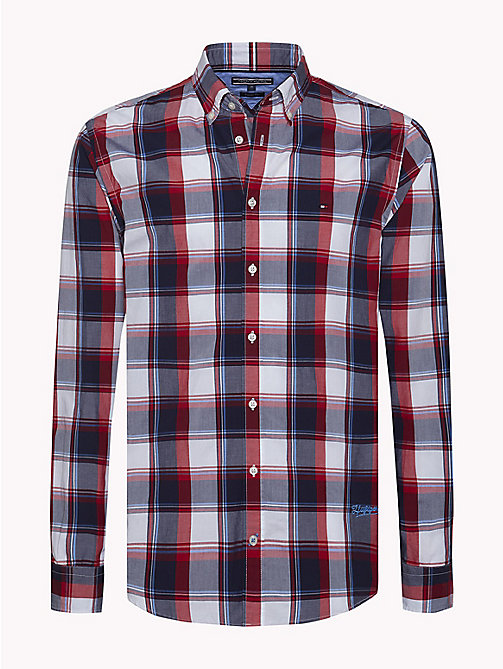TOMMY HILFIGER Windowpane Check Regular Fit Shirt - HAUTE RED / MULTI - TOMMY HILFIGER NEW IN - main image