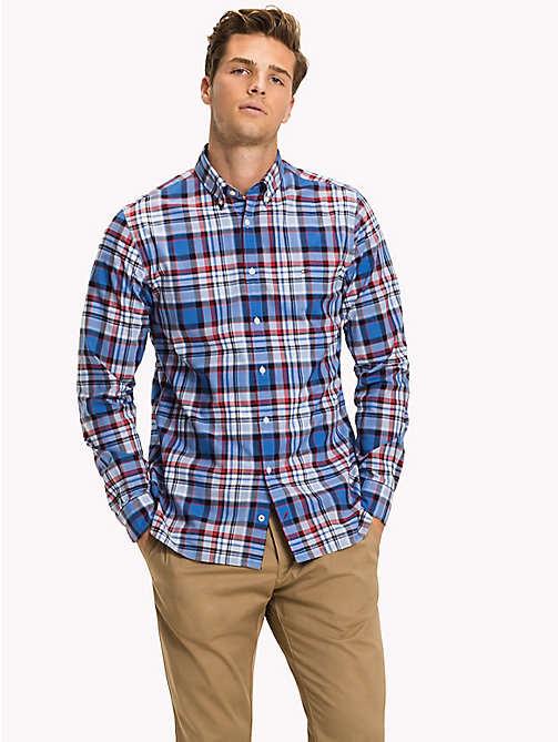 TOMMY HILFIGER Windowpane Check Regular Fit Shirt - REGATTA / HAUTE RED / MULTI - TOMMY HILFIGER Clothing - detail image 1