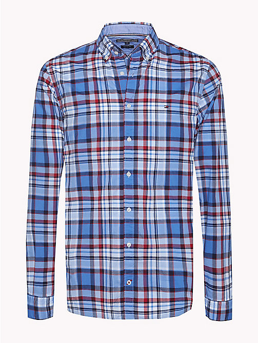 TOMMY HILFIGER Windowpane Check Regular Fit Shirt - REGATTA / HAUTE RED / MULTI - TOMMY HILFIGER Casual Shirts - main image