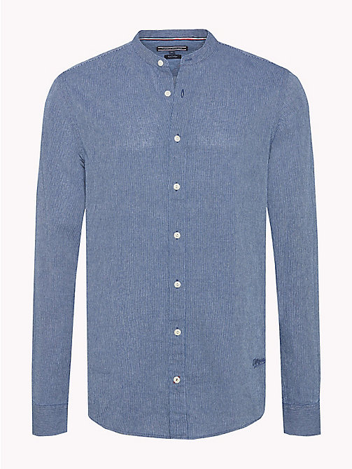 TOMMY HILFIGER Cotton Slim Fit Shirt - MARITIME BLUE / BRIGHT WHITE - TOMMY HILFIGER New arrivals - main image