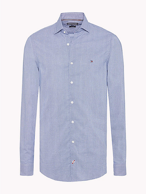 TOMMY HILFIGER Dot Print Stripe Slim Fit Shirt - SODALITE BLUE / BW / MARITIME BLUE - TOMMY HILFIGER Casual Shirts - main image