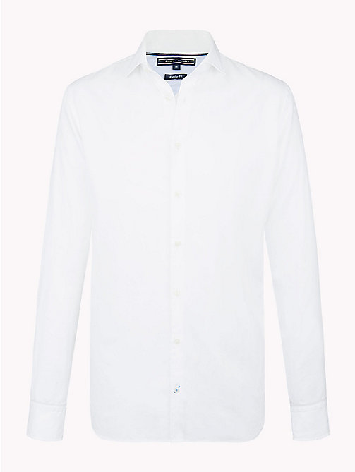 Regular Fit Dobby Shirt - BRIGHT WHITE - TOMMY HILFIGER Clothing - main image