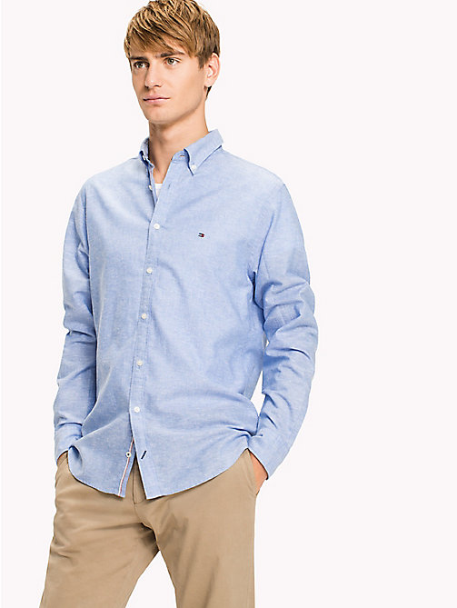 TOMMY HILFIGER Cotton Linen Regular Fit Shirt - REGATTA - TOMMY HILFIGER Casual Shirts - detail image 1
