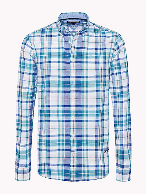 TOMMY HILFIGER Check Regular Fit Shirt - SODALITE BLUE / FANFARE - TOMMY HILFIGER NEW IN - main image