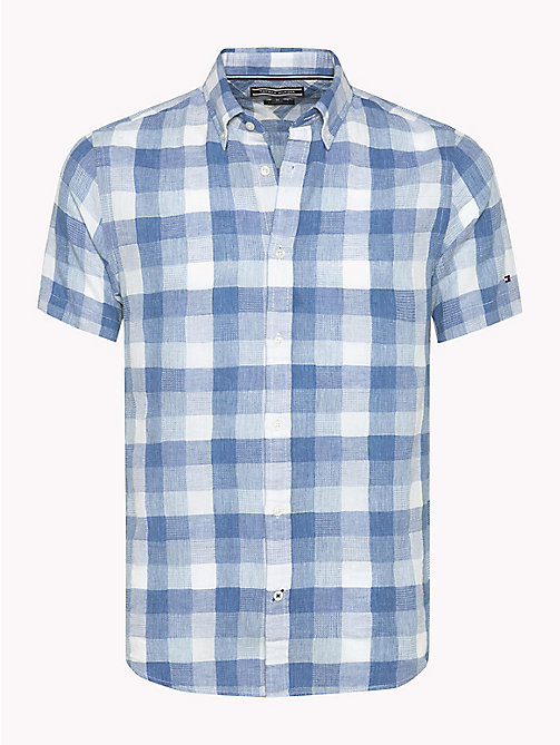 TOMMY HILFIGER Wide-Check Shirt - INDIGO - TOMMY HILFIGER Clothing - main image