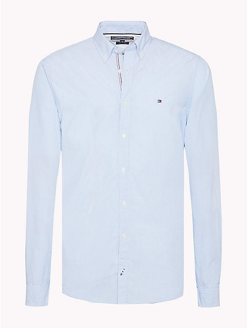 TOMMY HILFIGER Fine Stripe Slim Fit Shirt - REGATTA / BRIGHT WHITE - TOMMY HILFIGER Casual Shirts - main image