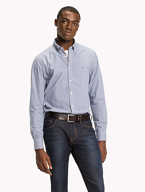 TOMMY HILFIGER Check Regular Fit Shirt - ESTATE BLUE / BRIGHT WHITE - TOMMY HILFIGER Casual Shirts - detail image 1